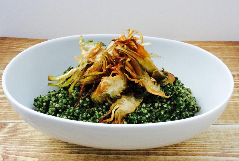 receta-quinoa-espinaca-gorgonzola-alcachofa-ido-destacada
