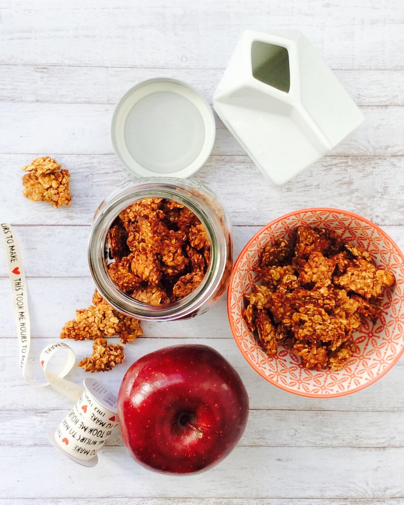 receta-granola-avena-manzana-canela-ido