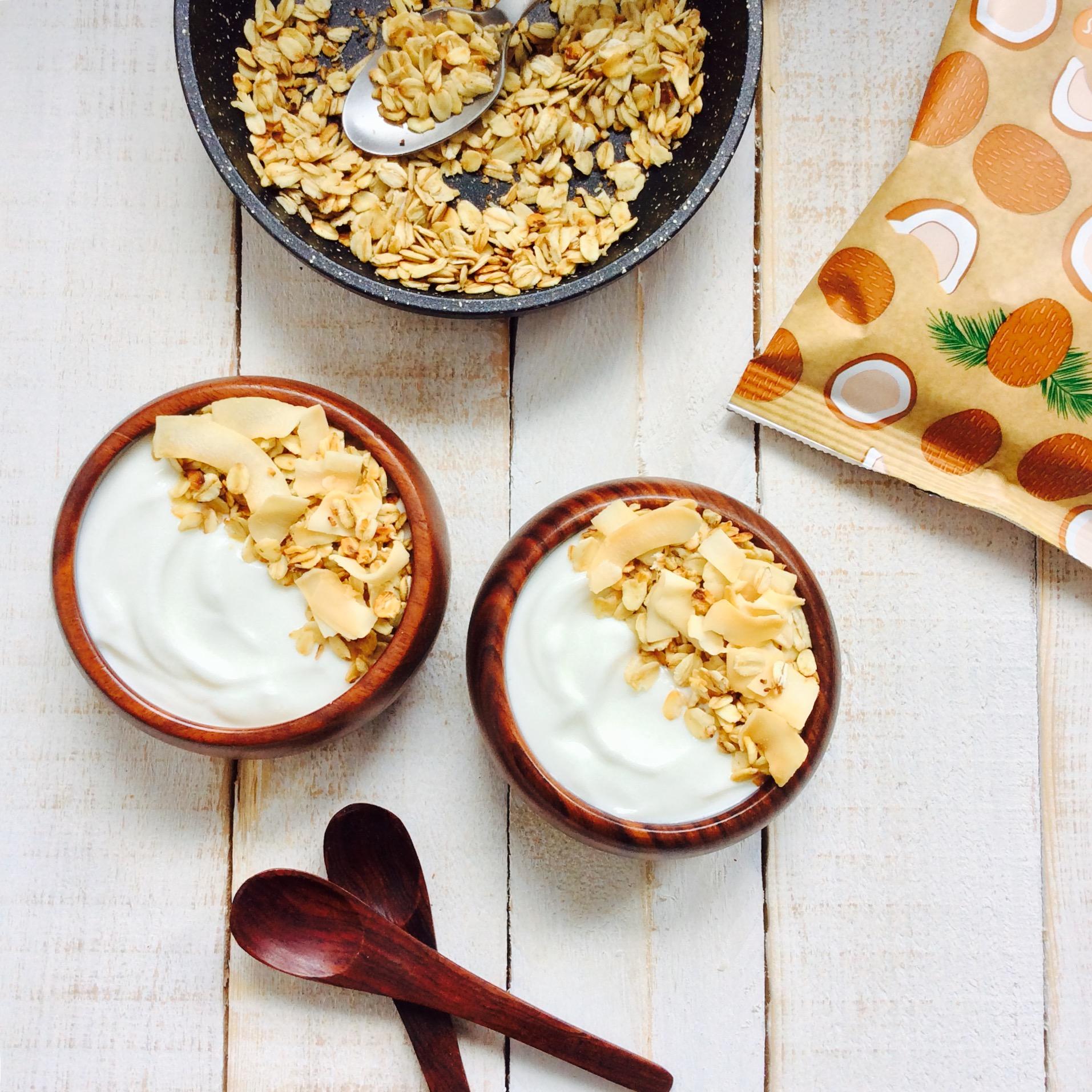 receta-granola-de-coco-en-sarten